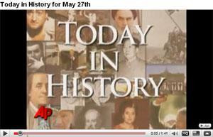 "Blog ""Today in History"" na YouTube"