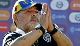 Diego Maradona, pictured in 2019, is an idol to millions of Argentines Creator: ALEJANDRO PAGNI