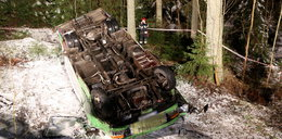 Groźny wypadek busa pod Zakopanem. 15 osób rannych