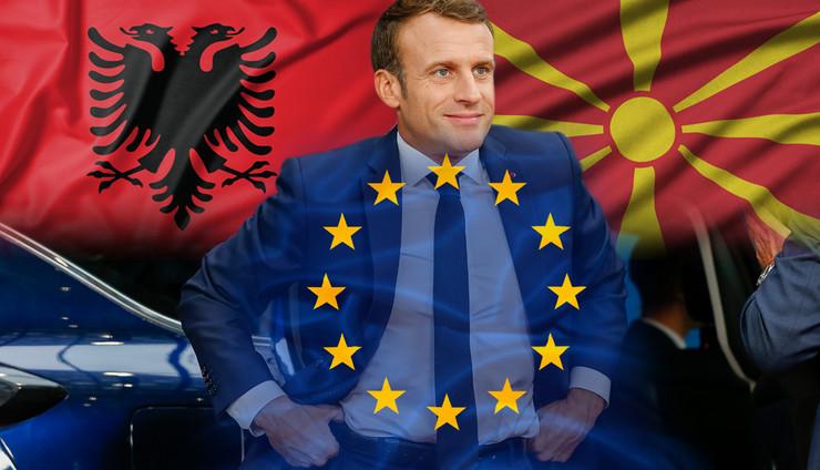 Emanuel Makron, Evropska unija, Blokada, Severna Makedonija, Albanija