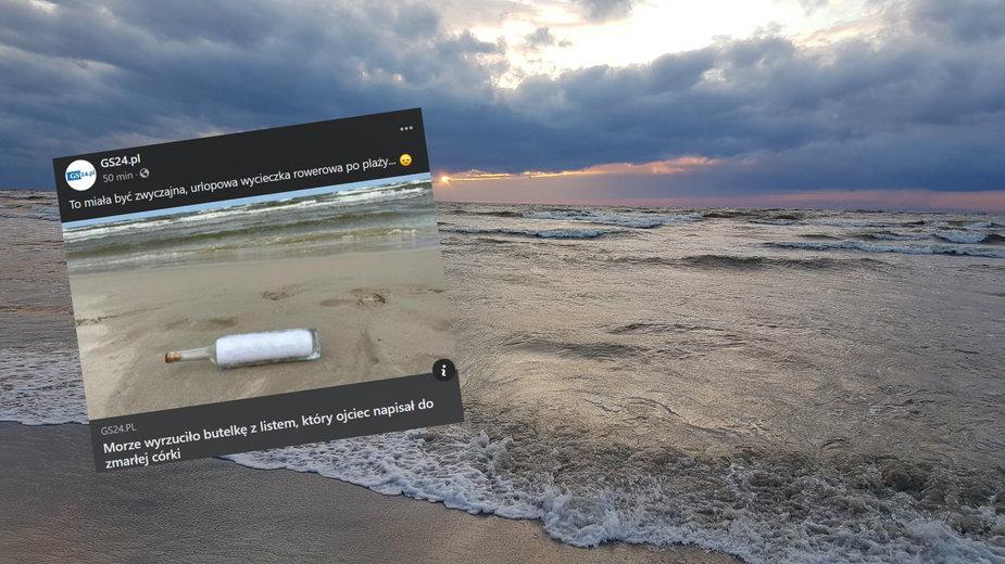 Turyści znaleźli na plaży list w butelce