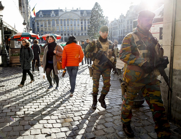 Zwiększone środki bezpieczeństwa na ulicach Brukseli.