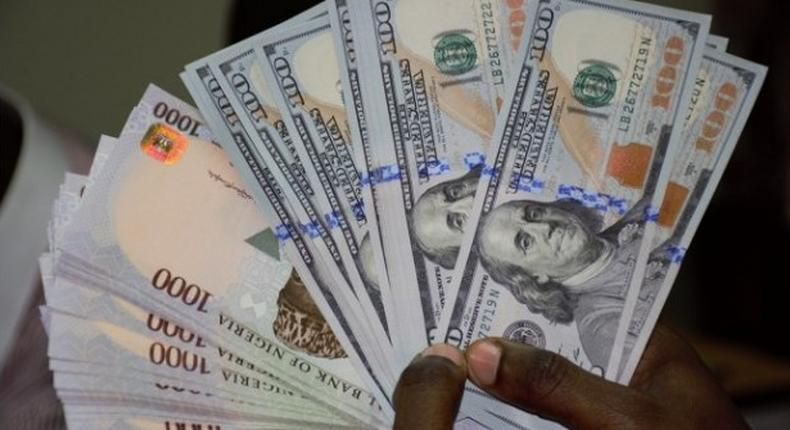 Nigerian naira and dollar