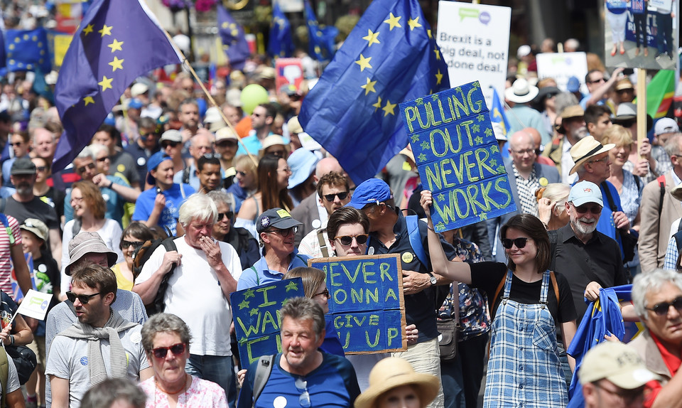 epa06833265 - BRITAIN BREXIT PEOPLE'S MARCH DEMONSTRATION (People's March Against Brexit)