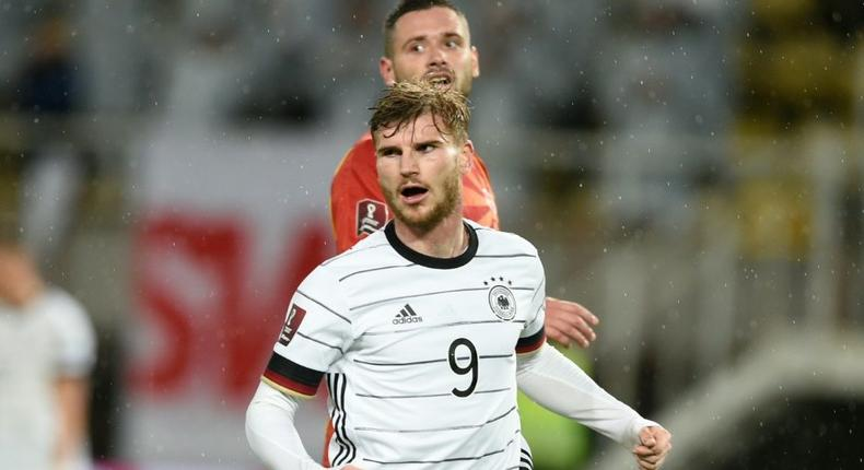 Timo Werner scored twice as Germany beat North Macedonia to qualify for next year's World Cup on Monday Creator: Nikolay DOYCHINOV