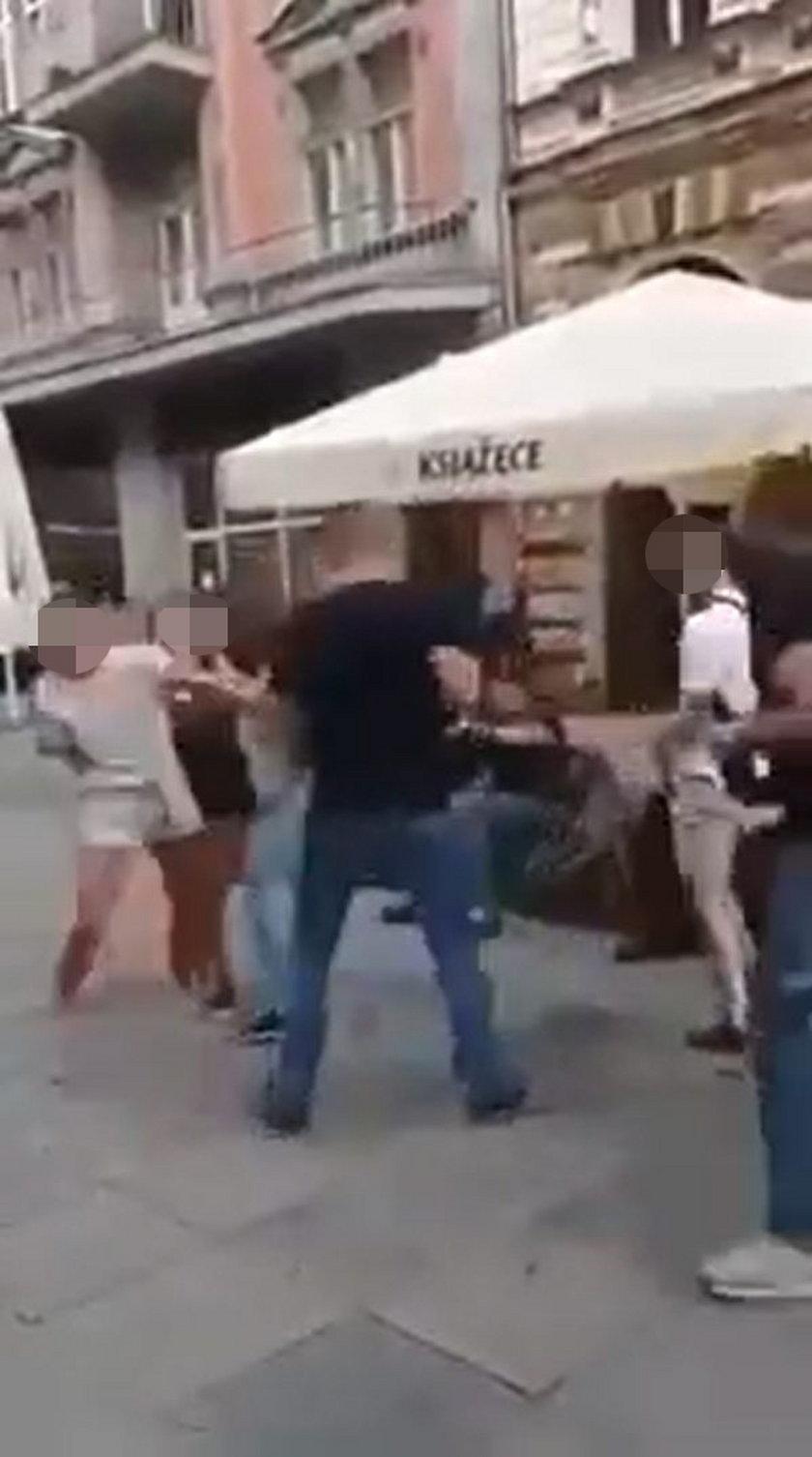 Szokujące sceny w Katowicach.