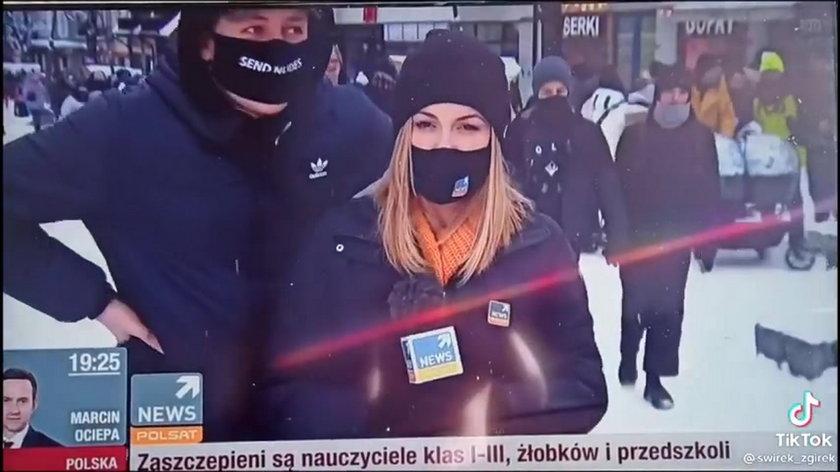Turysta z Zakopanego wszedł w kadr reporterce. Powiedział dosadnie, co sądzi o PiS