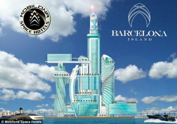 Planirano je da se hotel izgradi na veštačkom ostrvu u blizini Barselone