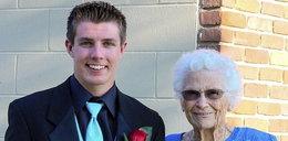 Maturzysta zaprosił na bal 93-latlkę