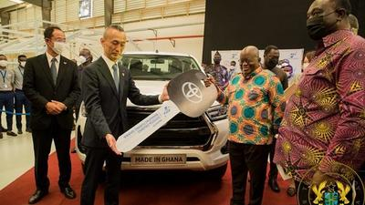 Akufo-Addo opens Toyota assembly plant in Ghana