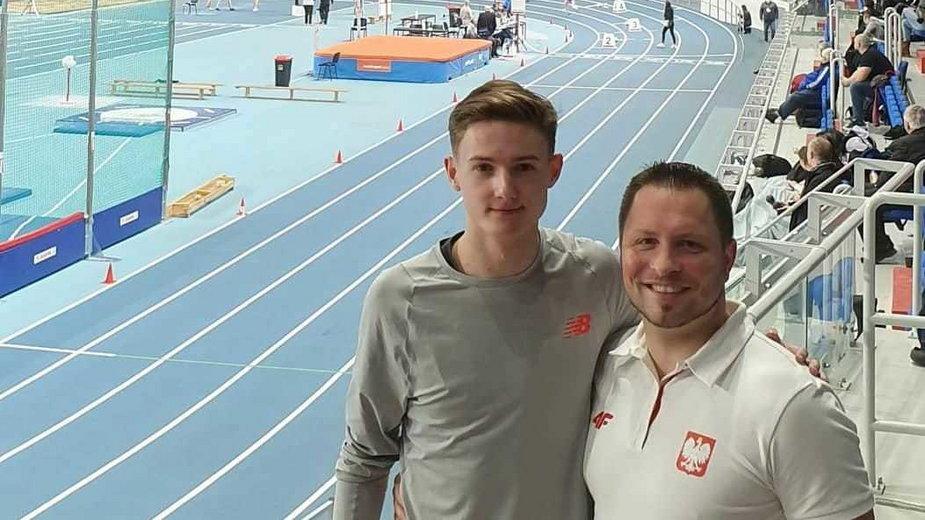 Trener Krzysztof Król (z prawej) i jego czołowy zawodnik Krzysztof Różnicki