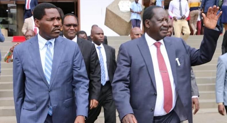 Raila Odinga joins Trade and Industrialization CS Peter Munya for the 3rd Kenya Trade Week held at KICC