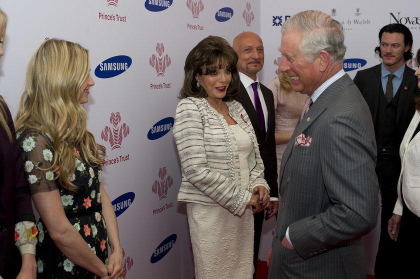 Joan Collins i książę Karol