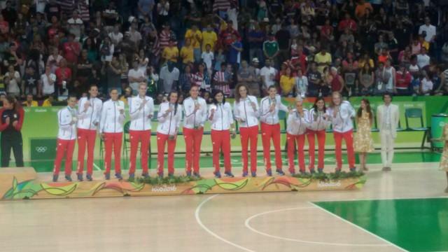 Košarkašice na pobedničkom postolju