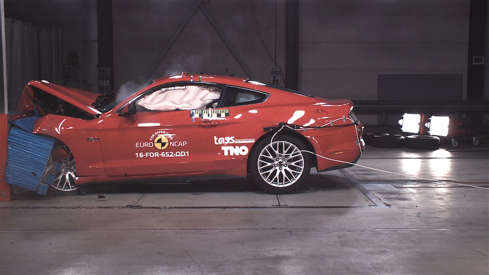Ford Mustang - testy Euro NCAP
