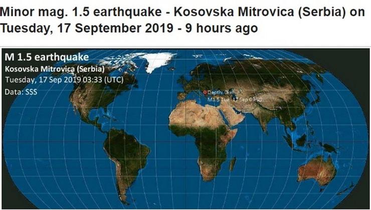 Zemljotres Kosovo