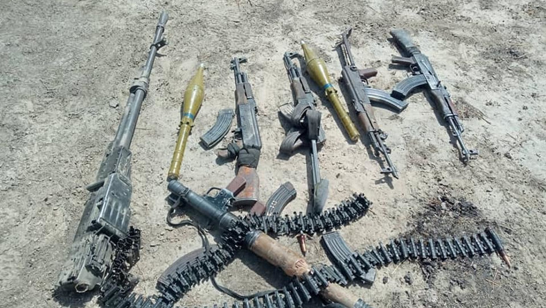 Items recovered from the terrorists [Facebook/HQ Nigerian Army]