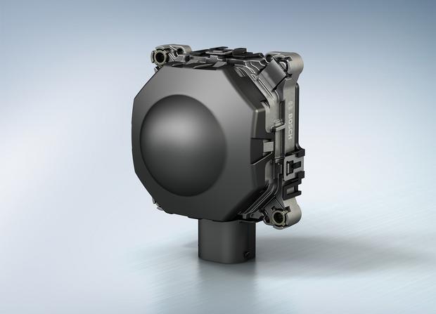 Głowica radaru do układu ACC. Zwykle montowana jest w zderzaku lub atrapie