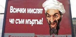 Chirurg reklamuje się twarzą bin Ladena!