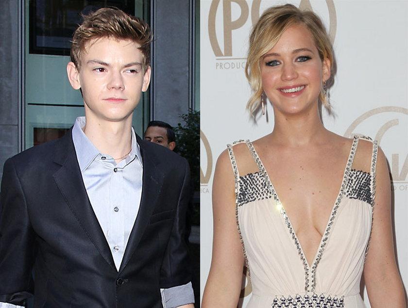 24 lata: Thomas Brodie-Sangster i Jennifer Lawrence