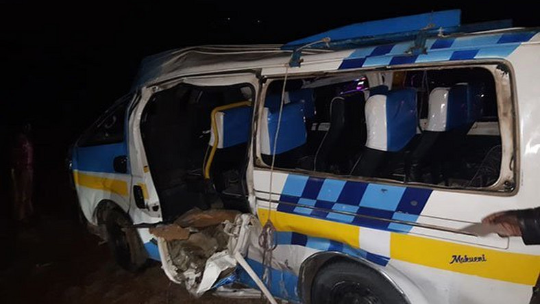 The Matapra sacco matatu that rolled. 5 dead, 13 injured in grisly accident (Nation)