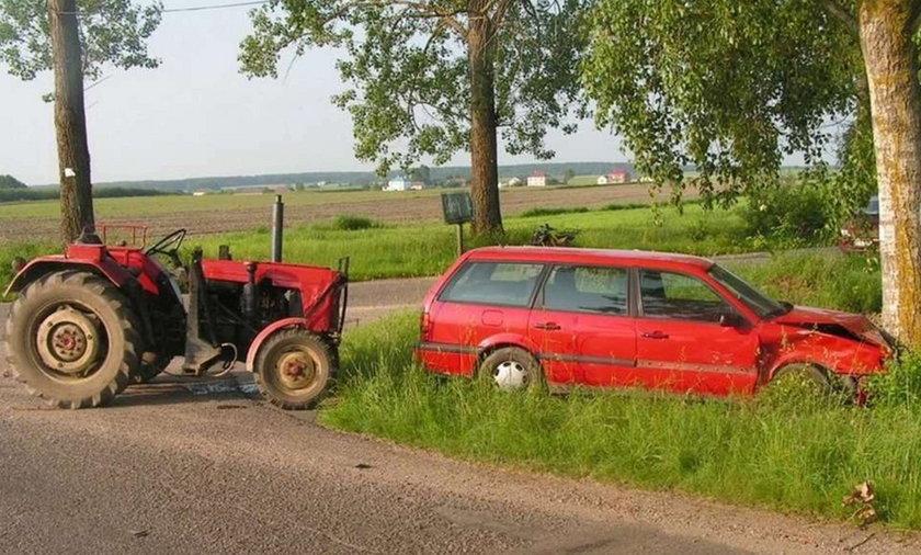 ciągnik, wypadek