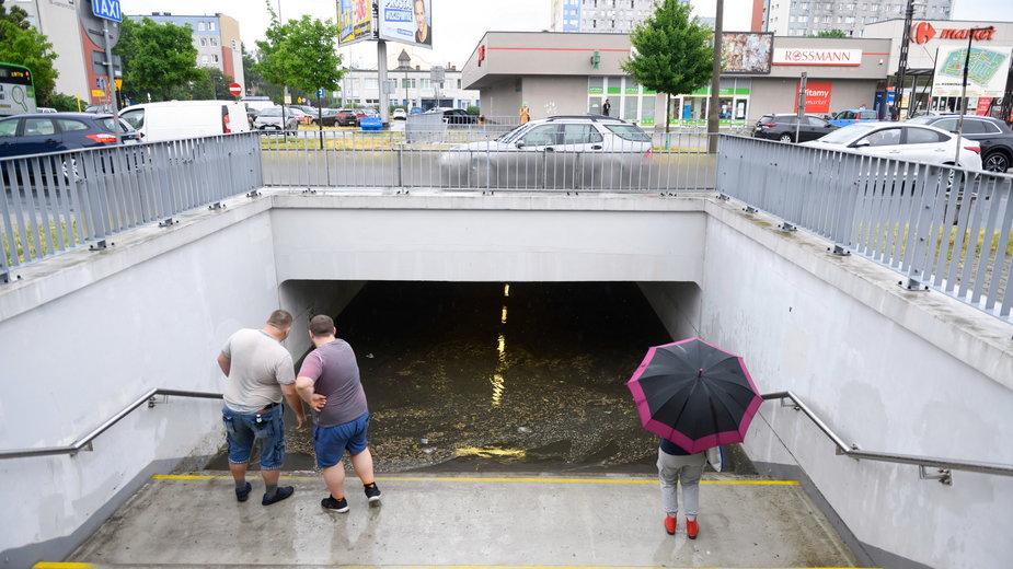 Zalany Poznań w czerwcu 2021 r., efekt tzw. flash flood