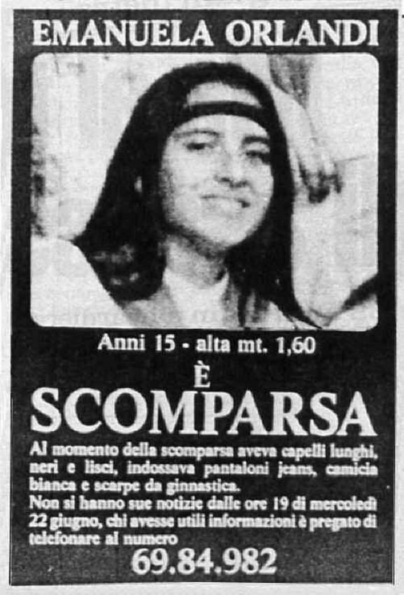 Nestanak Emanuele Orlandi ostao je misterija čitavih 30 godina