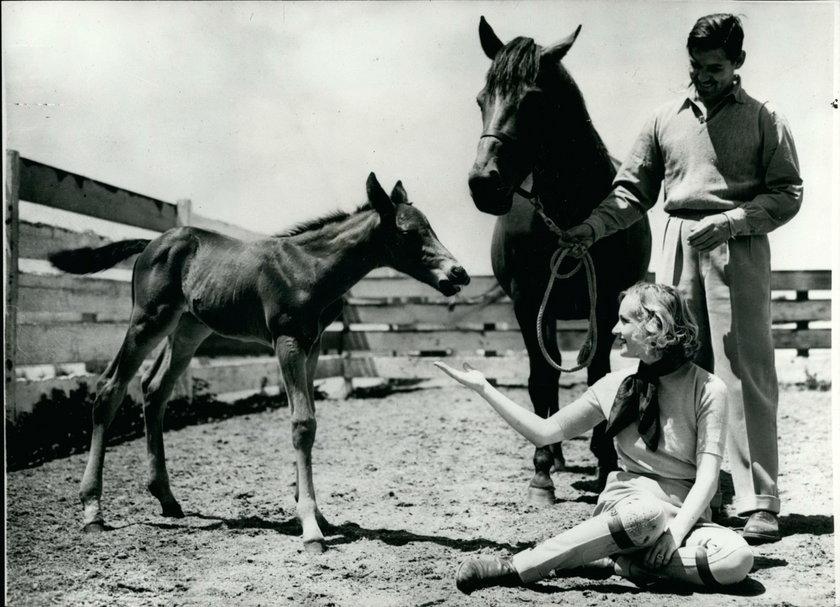 Clark Gable i trzecia żona Carole Lombard
