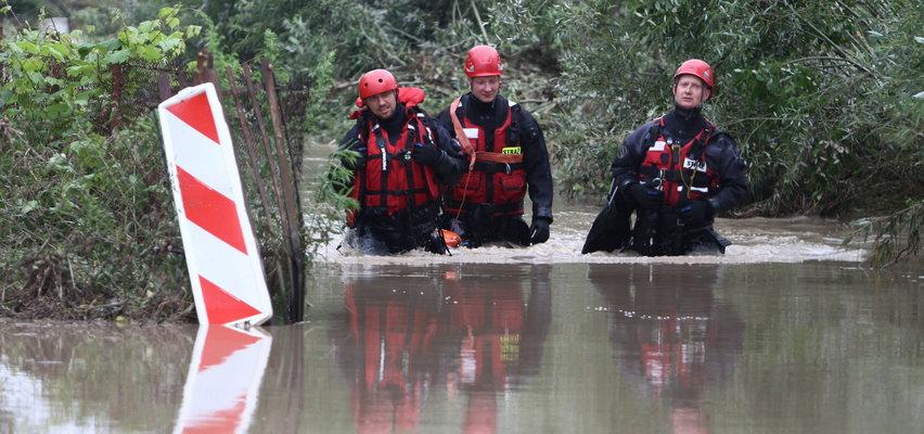 Powódź w Małopolsce. Kilkanaście osób ewakuowanych. Woda wdarła się do domów