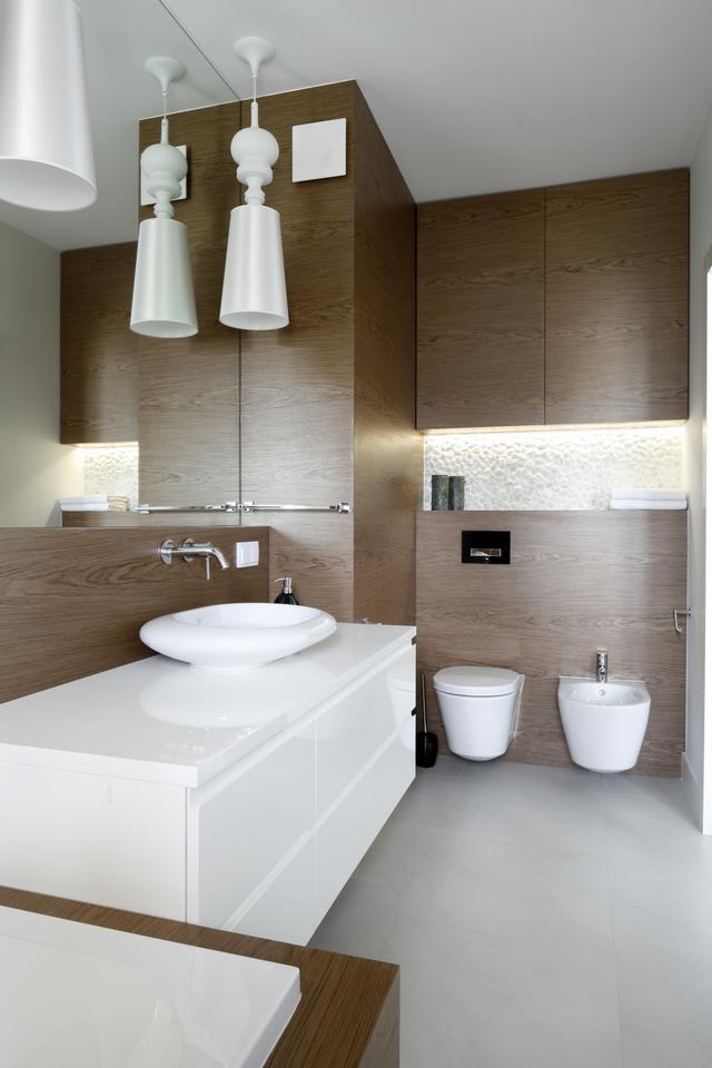 6. Oświetlenie umywalki. Projekt: Małgorzata Galewska