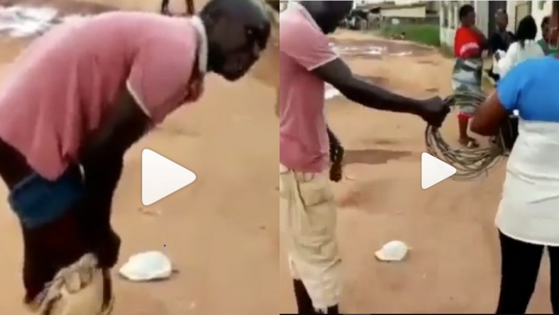 Angry man strips naked to rape electricity company staff who disconnected him (video)
