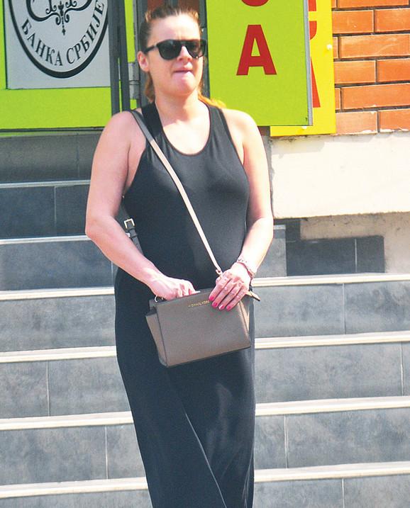 Slavica Ćukteraš u Novom Sadu u avgustu prošle godine