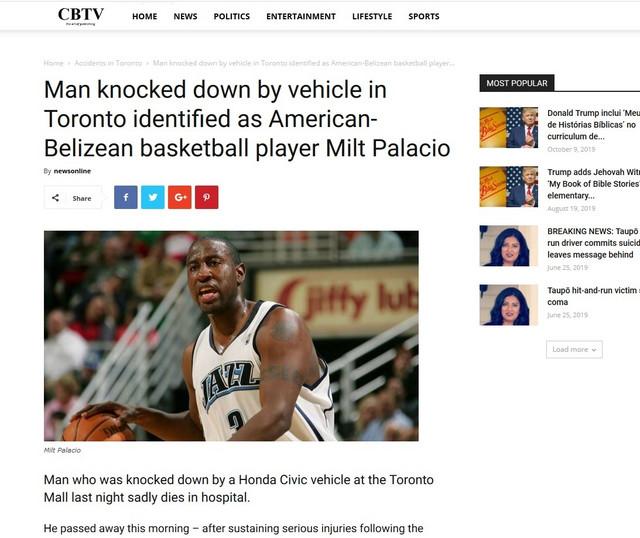 Prvobitna informacija CBTV-a o navodnoj pogibiji Milta Palasija