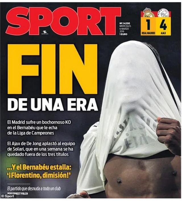 """Ovako o blamaži Real Madrida izveštava """"Sport"""""""