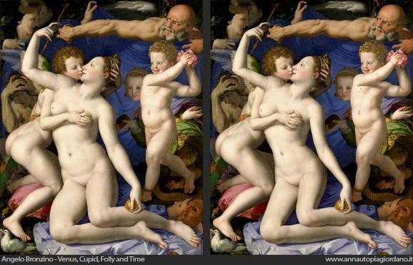 Bronzinov original (levo) i nova verzija