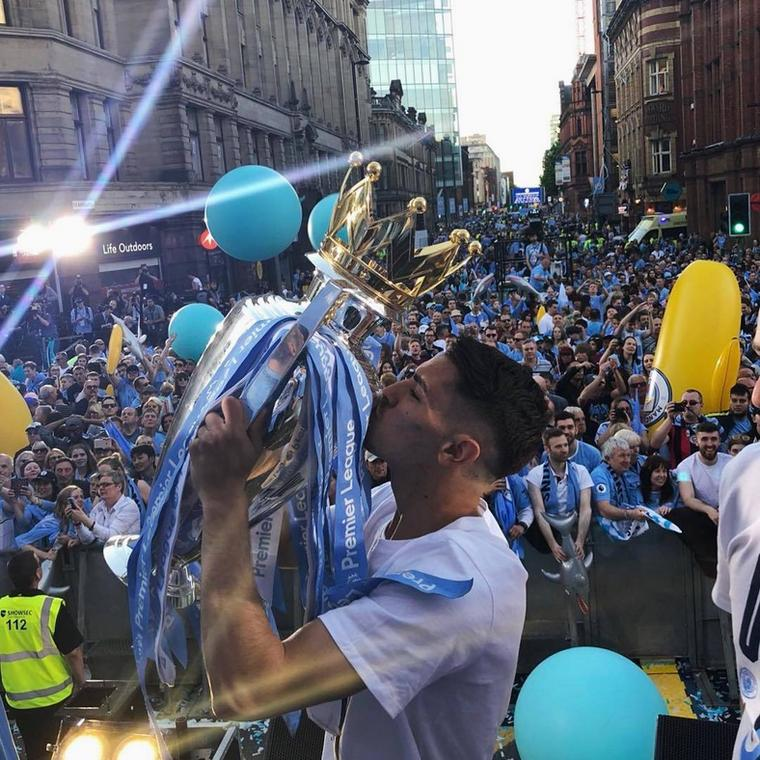 Brahim Diaz won the Premier League and Community Shield at Manchester City [Instagram]