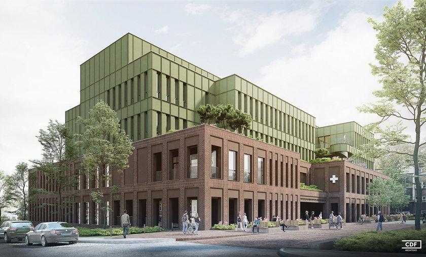 Oto zwycięski projekt rozbudowy szpitala ortopedyczno-rehabilitacyjnego w Poznaniu.