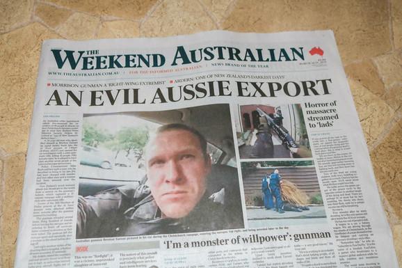 Ubica na naslovnim stranama australijskih medija