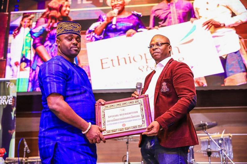 Special recognition award given to Chief Alexander Chukwudimma Nwokeabia [AMAA]