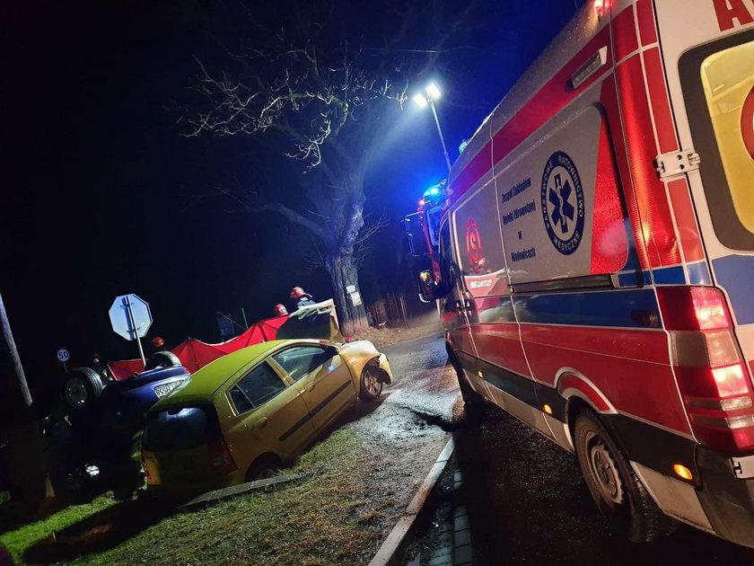 Makabryczny wypadek pod Wadowicami. Jedna osoba nie żyje, wielu rannych