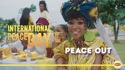 Lipton Ice Tea has a message for International Day of Peace