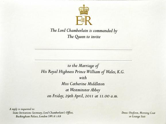 Ovako izgledaju pozivnice za venčanje budućeg kraljevskog para