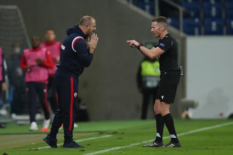 FK Hofenhajm, FK Crvena zvezda