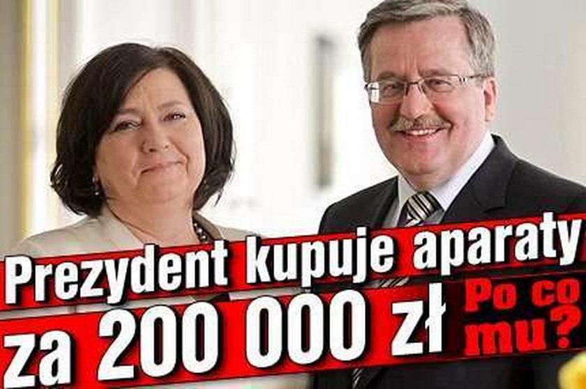 Po co prezydentowi aparaty za 200 tys. zł?
