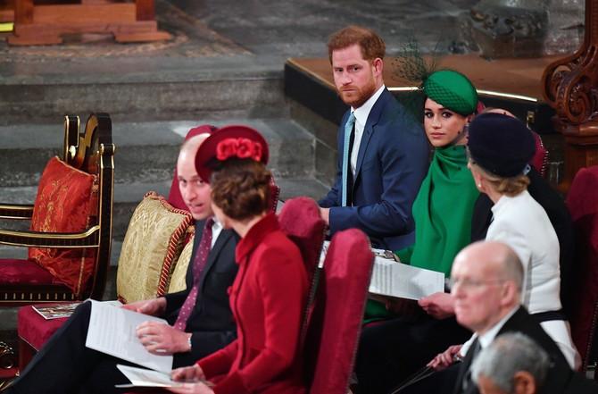 Princ Vilijam i Kejt Midlton sa Megan Markl i princom Harijem na proslavi Dana Komonvelta u Londonu