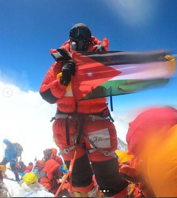 Dolores i sa jordanskom zastavom