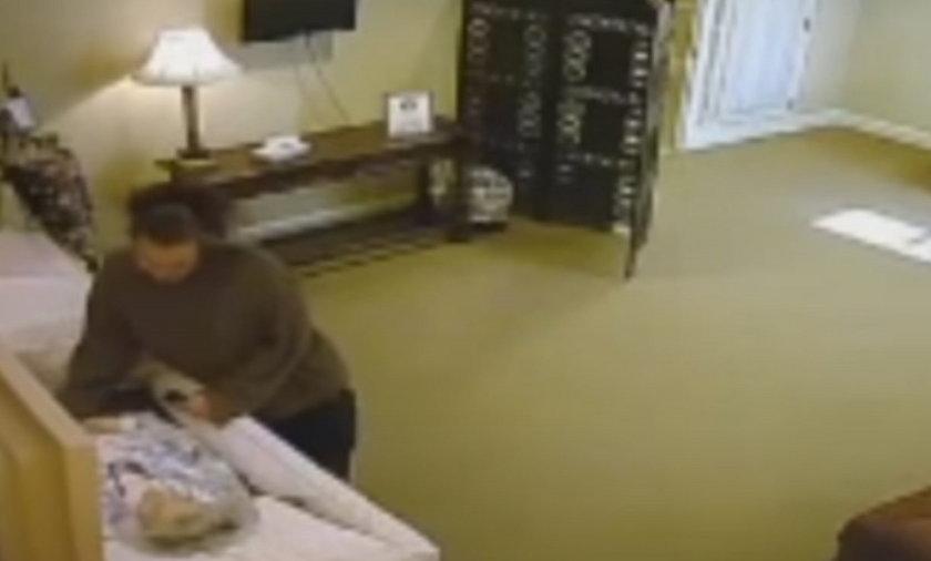 Odrażająca kradzież w domu pogrzebowym. Policja poszukuje złodziejki