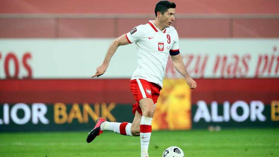 Robert Lewandowski w meczu z Andorą