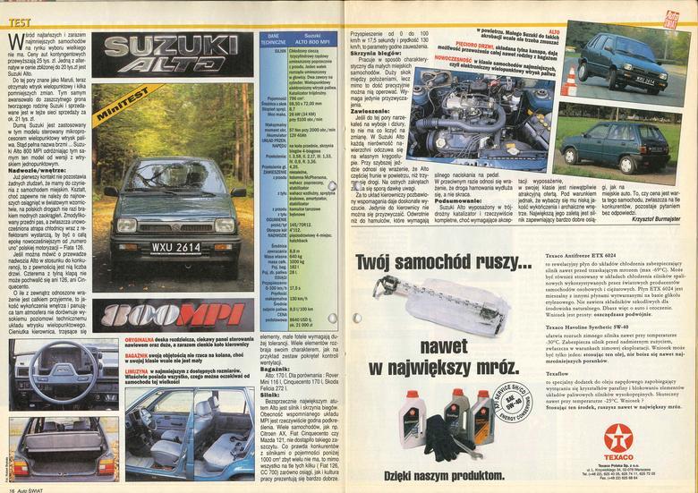 Test Suzuki Alto rok 1995